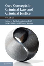 Core Concepts In Criminal Law And Criminal Justice: Volume I