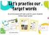 Let's Practice Our Target Words