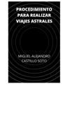 PROCEDIMIENTO PARA REALIZAR VIAJES ASTRALES