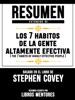 Resumen Extendido De Los 7 Habitos De La Gente Altamente Efectiva (The 7 Habits Of Highly Effective People) – Basado En El Libro De Stephen Covey