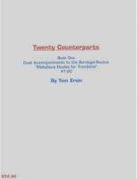Tom Ervin - TWENTY COUNTERPARTS BOOK 1 DUET ACCOMPANIMENTS TO BORDOGNI ROCHUT ETUDES 1-20 FOR TROMBONE artwork