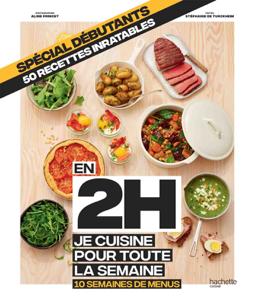 En 2h je cuisine pour toute la semaine spécial débutants La couverture du livre martien