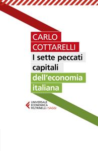 I sette peccati capitali dell'economia italiana Copertina del libro