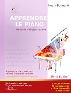 Apprendre le piano méthode débutant adulte (noir&blanc) La couverture du livre martien