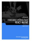 Hybrid Mobile App Development (React Native)