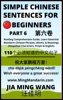 Simple Chinese Sentences For Beginners (Part 6): Reading Comprehension Guide, Learn Essential Mandarin Chinese Phrases, Idioms, And Meanings (Simplified Characters, Pinyin & English)