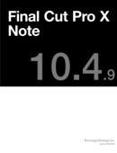 Final Cut Pro X Note Book Cover