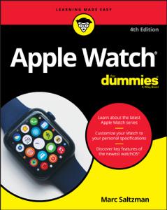 Apple Watch For Dummies Copertina del libro