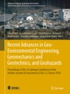 Recent Advances In Geo-Environmental Engineering Geomechanics And Geotechnics And Geohazards