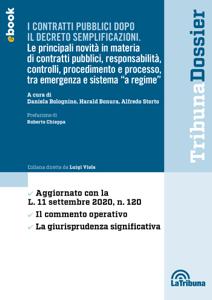 I contratti pubblici dopo il decreto semplificazioni Libro Cover