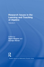 Research Issues In The Learning And Teaching Of Algebra