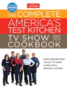 The Complete America's Test Kitchen TV Show Cookbook 2001-2021 Book Cover