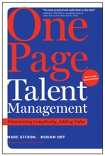 One Page Talent Management, With A New Introduction