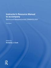 Instructor's Manual To Accompany Criminology