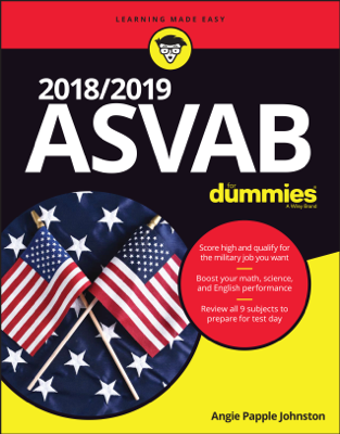 2018 / 2019 ASVAB For Dummies - Angie Papple Johnston book