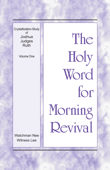 The Holy Word for Morning Revival - Crystallization-study of Joshua, Judges, Ruth, Volume 1 Book Cover