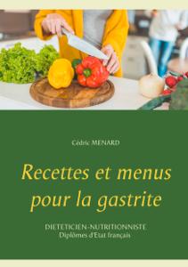 Recettes et menus pour la gastrite La couverture du livre martien