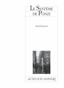 Le Système de Ponzi by David Lescot