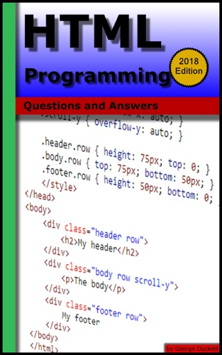 HTML Programming Questions and Answers