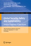 Global Security Safety And Sustainability Tomorrows Challenges Of Cyber Security