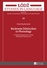 Backness Distinction In Phonology