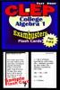 CLEP College Algebra Test Prep Review--Exambusters Algebra 1 Flash Cards--Workbook 1 Of 2