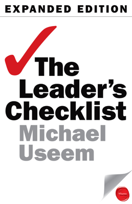 The Leader's Checklist, Expanded Edition - Michael Useem book