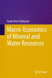 Macro Economics Of Mineral And Water Resources