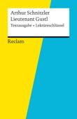 Textausgabe + Lektüreschlüssel. Arthur Schnitzler: Lieutnant Gustl