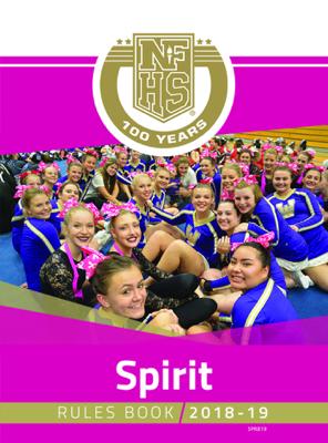 2018-19 NFHS Spirit Rules Book - NFHS book