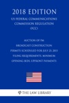 Auction Of FM Broadcast Construction Permits Scheduled For July 23 2015 - Filing Requirements Minimum Opening Bids Upfront Payments US Federal Communications Commission Regulation FCC 2018 Edition