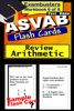 ASVAB Test Prep Arithmetic Review--Exambusters Flash Cards--Workbook 6 Of 8