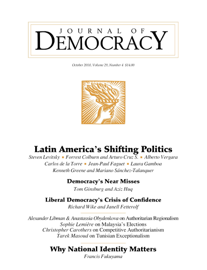 Latin America's Shifting Politics: Mexico's Party System Under Stress