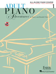 Adult Piano Adventures All-in-One Lesson Book 1 Book Cover