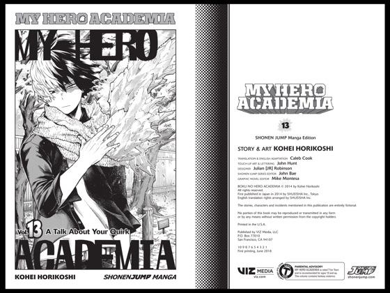 My Hero Academia, Vol  13