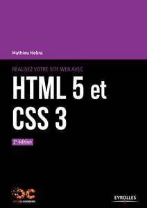 Réalisez votre site web avec HTML 5 et CSS 3 Couverture de livre
