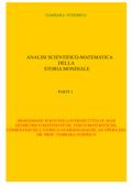 Analisi scientifico-matematica della storia mondiale. Parte I Book Cover
