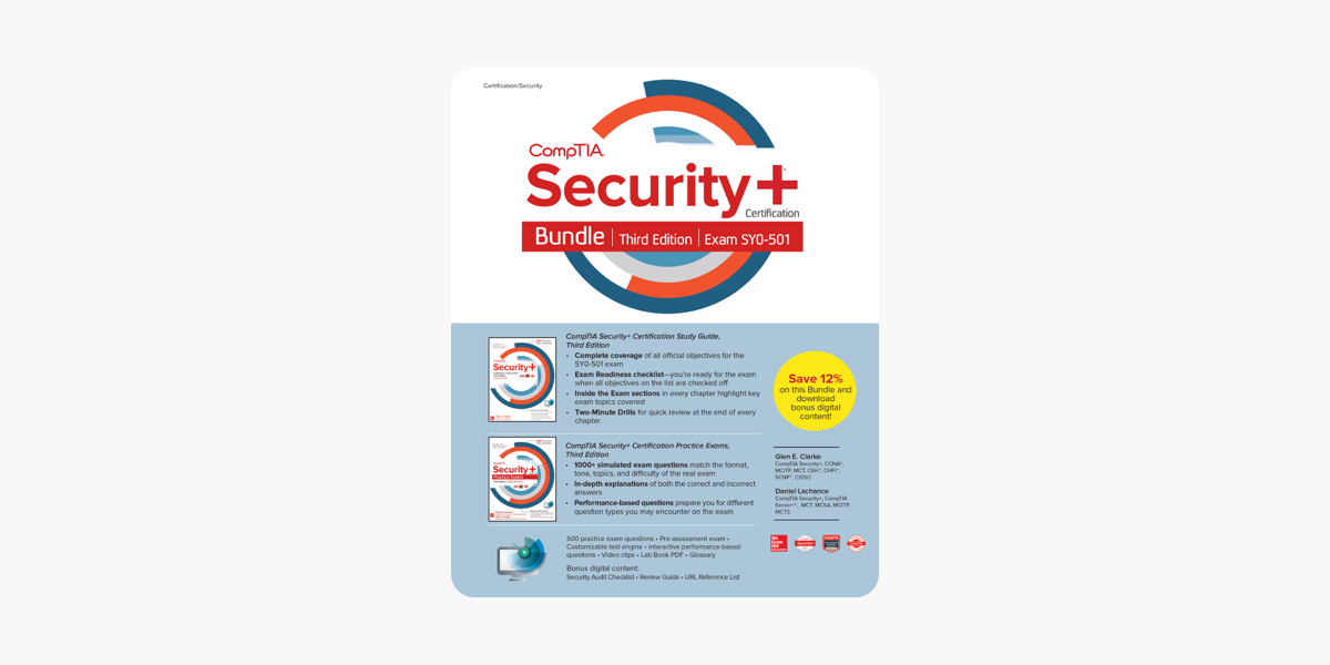 ‎CompTIA Security+ Certification Bundle, Third Edition (Exam SY0-501)