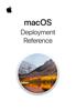 Apple Inc. - macOS Deployment Reference Grafik