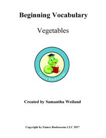 Beginning Vocabulary Vegetables