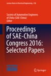 Proceedings Of SAE-China Congress 2016 Selected Papers