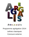 Programme Agrgation 2014