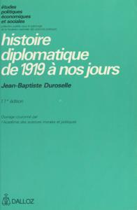 Histoire diplomatique de 1919 à nos jours Couverture de livre