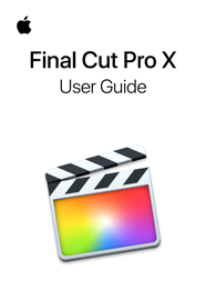 Final Cut Pro X User Guide book