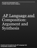AP Language and Composition: Argument and Synthesis