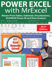 Power Excel 2016 with MrExcel book