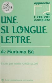 «Une si longue lettre» de Mariama Bâ
