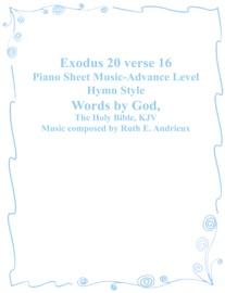Exodus 20 Verse 16 Piano Sheet Music Advance Level Hymn Style