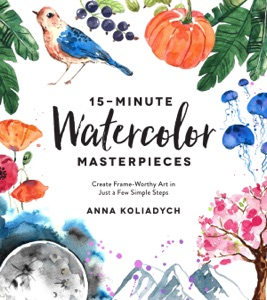 15-Minute Watercolor Masterpieces Book Cover