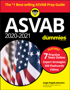 2020 / 2021 ASVAB For Dummies with Online Practice Book Cover
